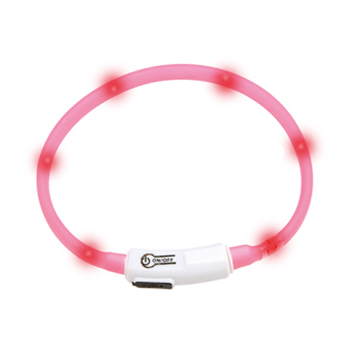 Collar led rosa