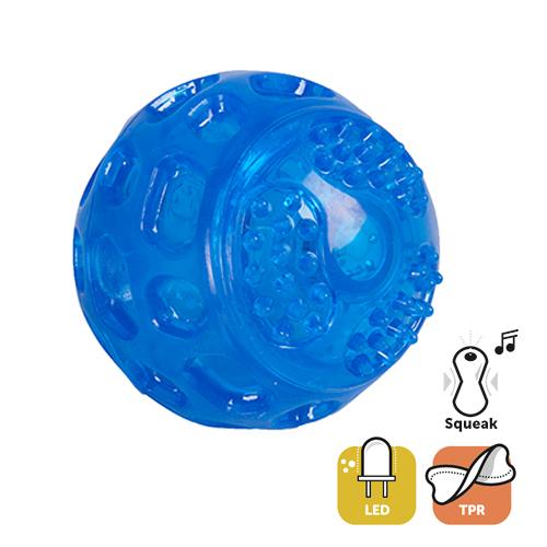 Juguete TPR pelota +led 7,5 cm