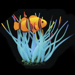 1956 Aqua Lumo Sea Anemona con pez Globo