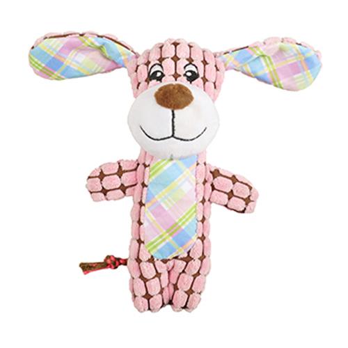 Perro de peluche rosa
