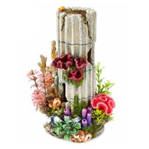 Columna de piedra para acuario