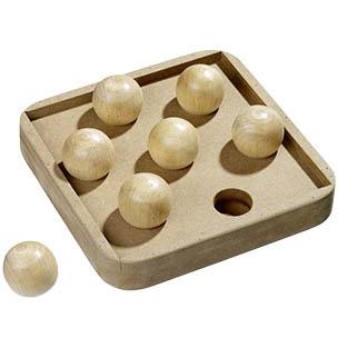 juguete interactivo para gatos de madera