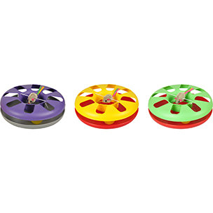 divertida rueda con pelota dentro para gatos